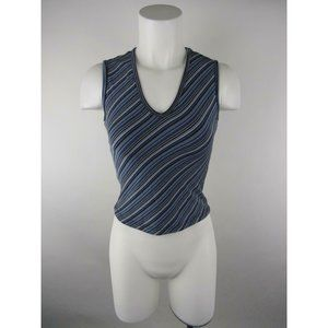 Amazing Polyester Spandex Striped Tank Top